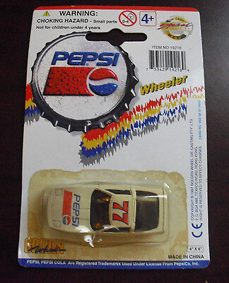 Golden Wheel Pepsi Diecast Plastic #77 Race Car  NIP