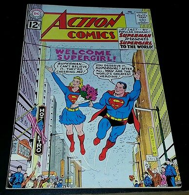 DC  action comics #285 1962 superman supergirl early silver high grade VF+