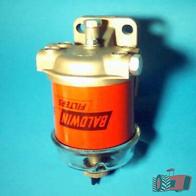 FFK8261 Single CAV 296 Style Diesel Fuel Filter Assy with Glass Bowl 1/2in Ports