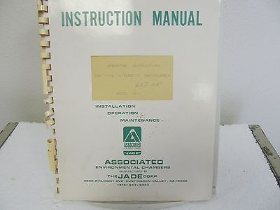 Associated Environmental CP-1 CAM Type Automatic Programmer Instruction Manual