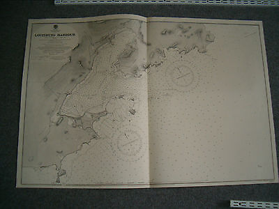 Vintage Admiralty Chart 2692 GULF OF ST. LAWRENCE - LOUISBURG HRBR 1897 edition