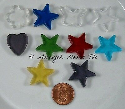 New! Assorted CHARMING SHAPES *wow Glass Shapes CuTe! MOSAIC Tile Tiles