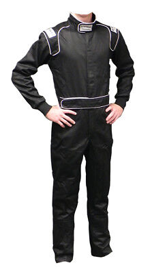 Ultra Shield 30061 Black 3X-Large Single Layer 1-Piece Race Driving Suit
