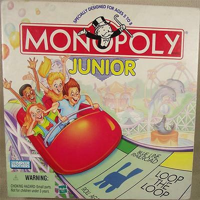 MONOPOLY JUNIOR Game - PB 1999 - Excellent Cond!  100% Complete!