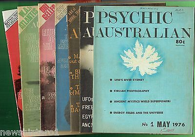 #RR. FIRST 7 ISSUES  PSYCHIC AUSTRALIAN MAGAZINE - MAY to NOV. 1976