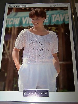 HAYFIELD - BOAT NECK SUMMER TOP - DK - Actual Size 95 to 124cm chest