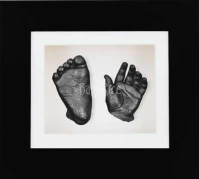 New 3D Baby Casting Kit Mothers Fathers Day Set Present Gift Black Box Frame