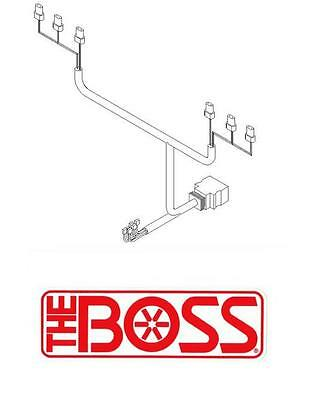 boss snow plow 13 pin 5 relay wiring harness truck side msc08001 boss snow plow 13 pin wiring harness plow side msc08881 rt3 sh2 newer models