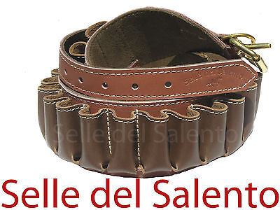 Cartuccera caccia in pelle cal 20 cartucciera leather cartridge belt hunting