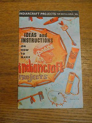 Vintage 1963 Indiancraft Projects Ideas & Instructions Book