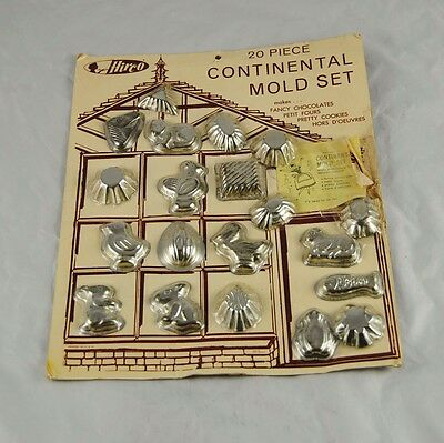Vintage 20 Piece Continental Mold Set By Hirco West Germany Original Package