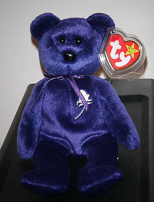 Ty Beanie Baby ~ PRINCESS the (Diana) 1997 Bear ~ MINT ~ RETIRED