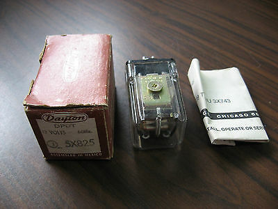 New Dayton 5X825 Cube Relay 12 Volt, DPDT, 60 HZ