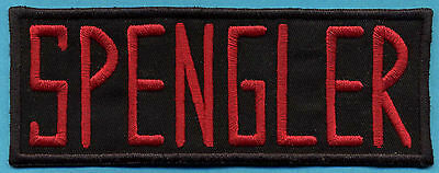 Ghostbusters Embroidered Name Tag Iron-On Patch - SPENGLER