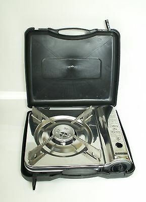 STERNO PORTABLE LIGHTWEIGHT GAS STOVE With CASE CAMPING BUFFET BUTANE ST06004