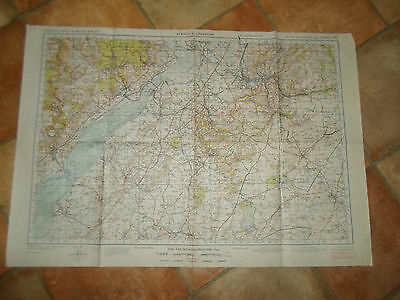 STROUD & CHEPSTOW  Large Map Sheet 103 2nd War Revision Ordnance Survey 1940