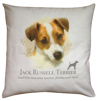 Jack Russell Terrier Breed of Dog Cotton Cushion Cover with Story - Perfect Gift