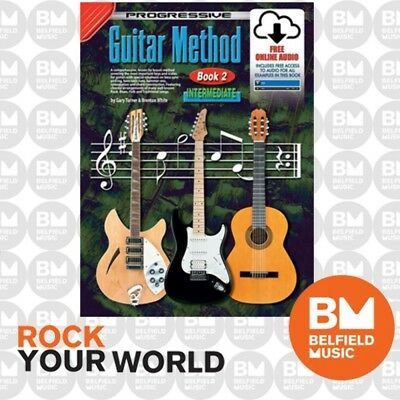 Progressive 18303 GUITAR Method Intermediate Learning Book 2 Free CD/DVD KPGM2CP