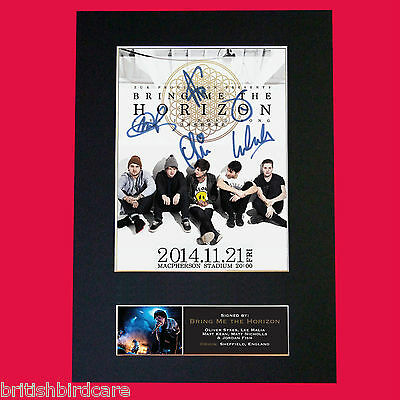 BRING ME THE HORIZON Quality Autograph Mounted Signed Photo PRINT A4 559