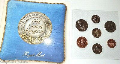 1988 United Kingdom Brilliant Uncirculated Coin Collection Royal Mint pence