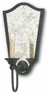 Marseille French Black/Antiqued Mirror Transitional Wall Sconce