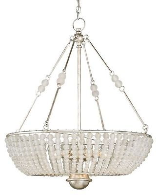Currey and Company Cleo Silver Granello/Crystal Traditional Chandelier