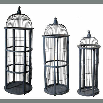 "Large Square Bird Cage 45""/35""/26 Set Of 3 - 36838"