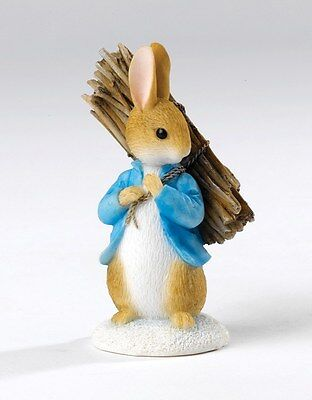 Beatrix Potter Peter Rabbit Carrying Sticks NEW Figurine  in Box  23290