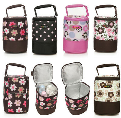 New Baby Food Bottle Bag Warmer Insulated Bag Lunch Bag With Stroller Hand Strap
