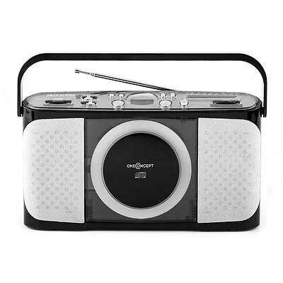 Tragbare Stereo Anlage Mobiler Cd Player Fm Am Radio Tuner Usb Mp3 Ghettoblaster