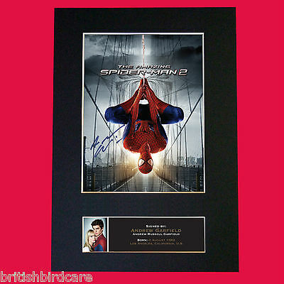 ANDREW GARFIELD Spiderman Signed Autograph Quality Mounted Photo PRINT A4 557
