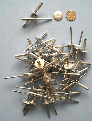 RIVETS LARGE FLANGE - 50 pcs 5/8in DIA. HEAD ALUMINUM - STEEL SHAFT