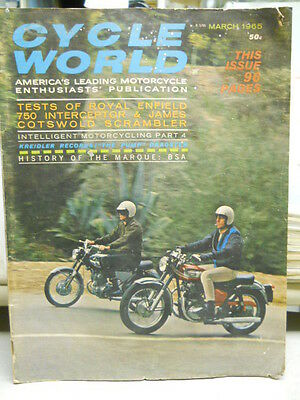 Cycle World, March 1965, Tests of Royal Enfield 750 Interceptor,   box 9