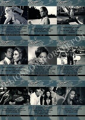 The Quotable James Bond 2004 Rittenhouse Archives Base Card Set Of 100 Movie