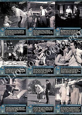 James Bond Mission Logs 2011 Rittenhouse Archives Base Card Set Of 66 Movie