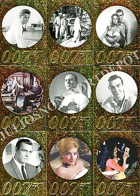 James Bond 50Th Anniversary 1 2012 Parallel Sparkle Card Set Of 99 Movie Base