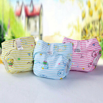 New Infant Baby Cotton Washable Reusable Soft Cloth Diaper Diapers Inserts G68