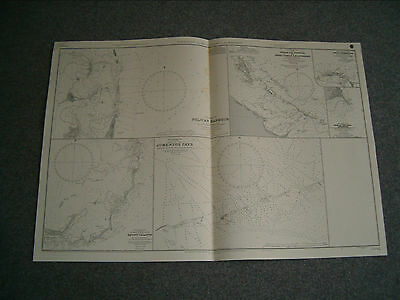 Vintage Admiralty Chart 3042 HARBOURS & ANCHORAGES IN THE BAHAMAS 1929 edition