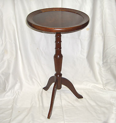 EXQUISITE RARE INLAID WOODS FLOWER TOP ROUND WOODEN WINE TABLE