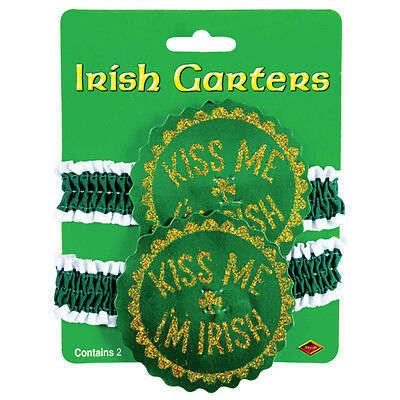 St. Patrick's Day Kiss Me I'm Irish Garter or Arm Band Beistle 33942  8524