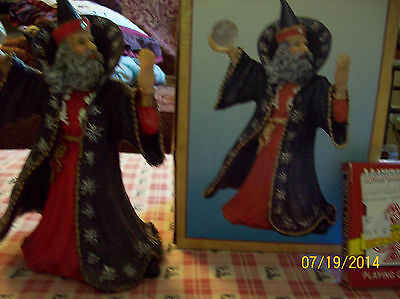 LARGE WIZARD WITH CRYSTAL RED, NEW IN BOX + SEE MY DVDS, TV SERIES & AUDIOBOOKS