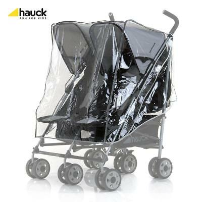 Hauck Rain Cover for Roadster / Turbo Side by Side Twin Pushchair