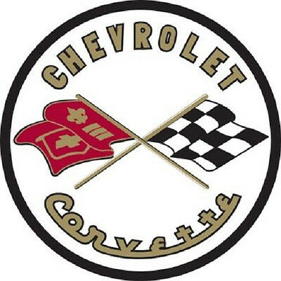 Chevrolet Corvette C1 Flags Chevy Garage Round Metal Steel Sign Large 25.5 inch