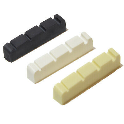 Bass guitar top nut four string graphite compound 43mm x 6mm White, Black, Ivory