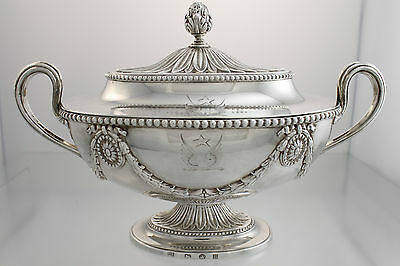 Neoclassical Sauce Tureen Sterling Henry Tudor & Thomas Leder c1776 Sheffield