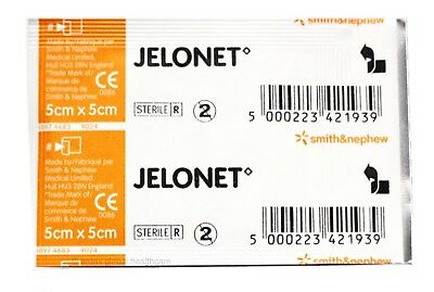 JELONET 5cm X 5cm PARAFFIN GAUZE DRESSING FIRST AID *Cheapest on Ebay*