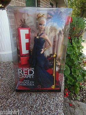 BARBIE E! LIVE FROM RED CARPET BADGLEY MISCHKA DOLL~PINK LABEL ~NRFB~