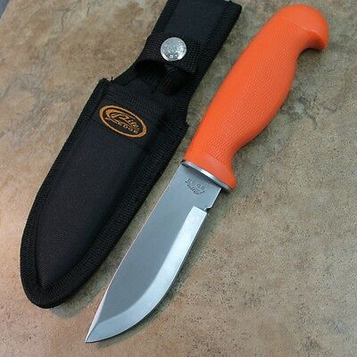 "9.5"" Orange Hunters Choice Drop Point Hunting Knife with Sheath 210978 zix"