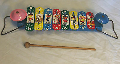 """SUPERB VINTAGE TINPLATE MAGIC ROUNDABOUT """"DING DONG"""" XYLOPHONE C1968"""