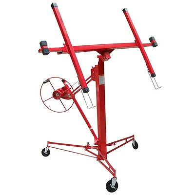 11' 15' Drywall Lift Rolling Caster Lifter Panel Hoist Jack Lockable Dry Wall